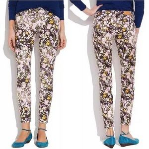 Madewell • Floral Skinny Ankle Jeans